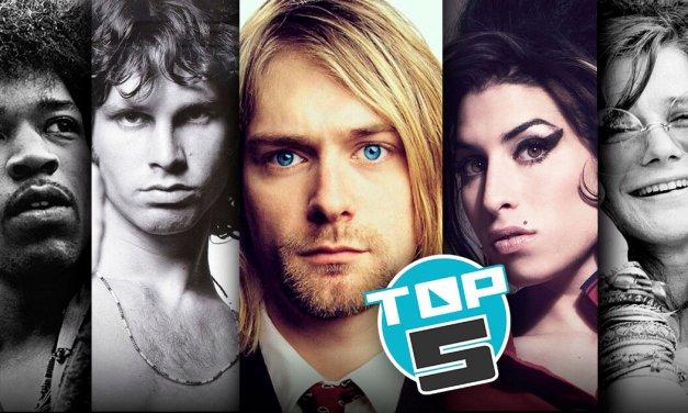 """TOP 5: Cantantes más famosos del """"Club de los 27"""""""