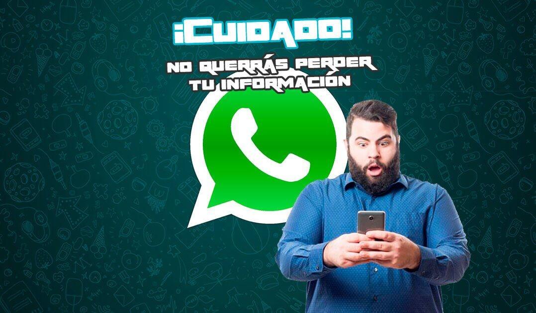 CUIDADO: este 12 de noviembre usted podría perder todas la conversaciones de WhatsApp