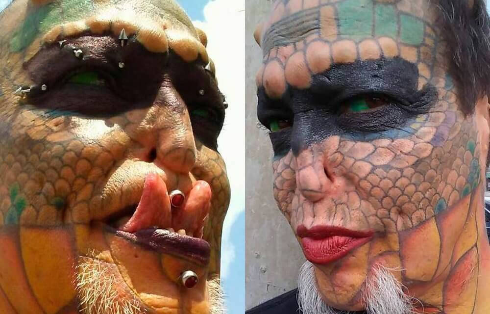 """Mujer """"transespecie"""" se transformó en un dragón y se gastó $ 60,000 por ello"""