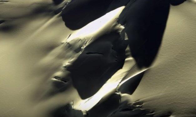 """Se descubre una """"cara alienígena"""" en la Antártida, en las capturas de Google Earth"""