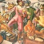 Misterio: aparece un nativo americano utilizando un Smartphone en una pintura de 1930