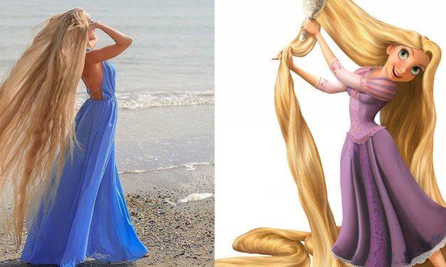 Rapunzel si existe y es una mujer ucraniana que lleva 30 años sin cortarse el cabello