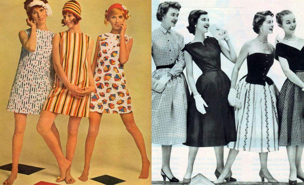 revolución de la moda femenina en los años 50